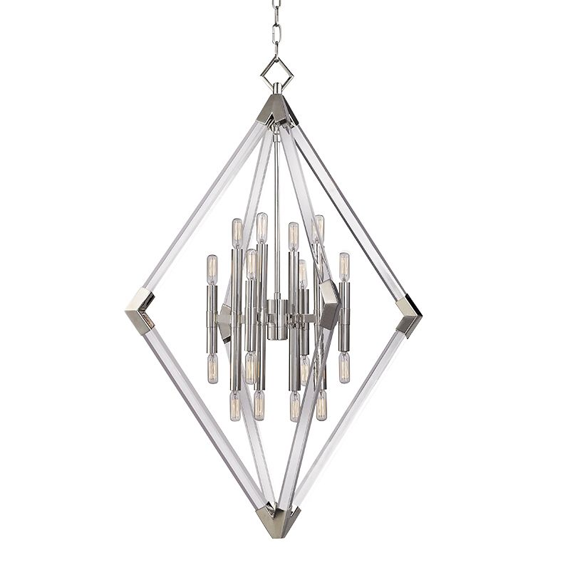 Hudson Valley Lighting 4630 Lyons 16 Light Pendant Polished Nickel