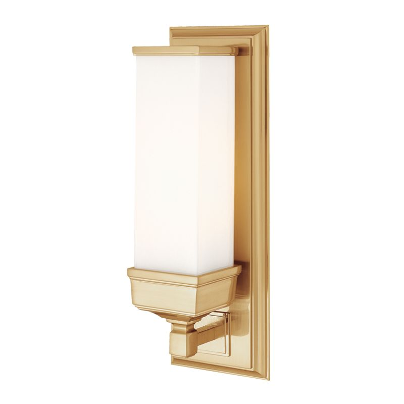 Hudson Valley 471-AGB Aged Brass Industrial Everett Wall Sconce