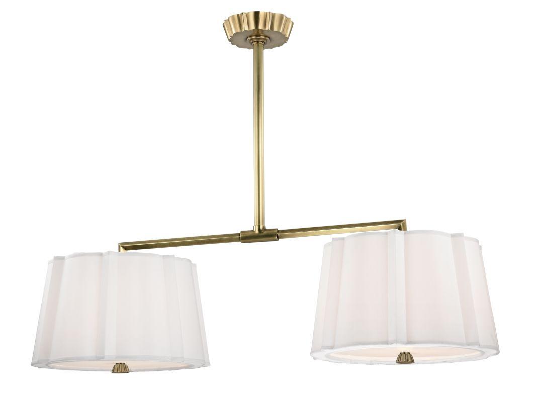 Hudson Valley Lighting 4844 Humphrey 4 Light Island Light Aged Brass
