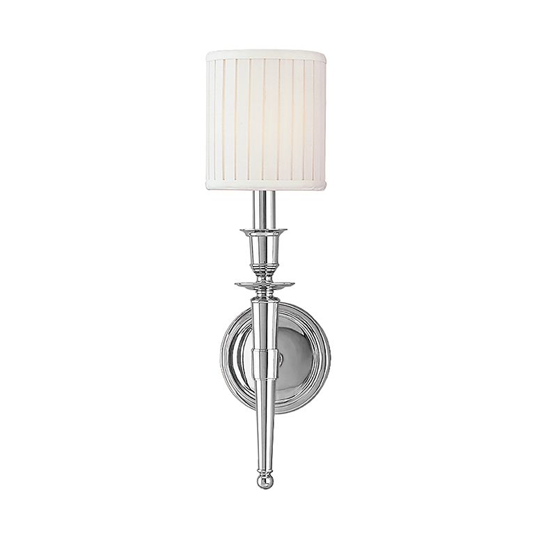 Hudson Valley Lighting 4901 Abington 1 Light Wall Sconce with Faux