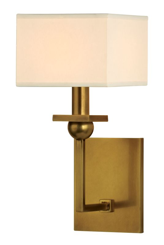 Hudson Valley Lighting 5211 Morris 1 Light Wall Sconce Aged Brass