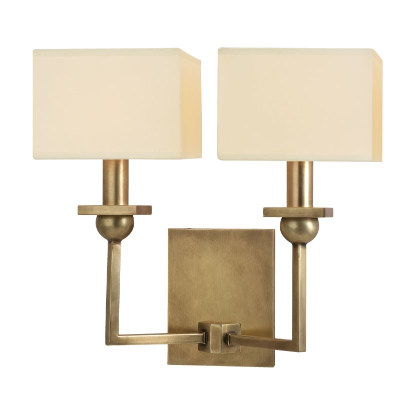 Hudson Valley Lighting 5212 Morris 2 Light Wall Sconce Aged Brass