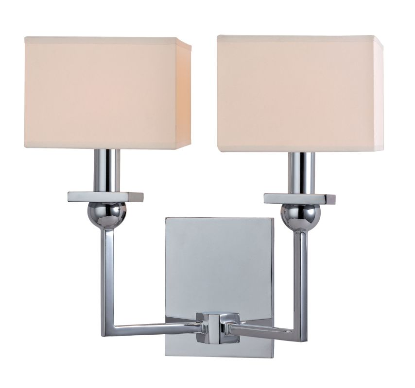 Hudson Valley Lighting 5212 Morris 2 Light Wall Sconce Polished Chrome