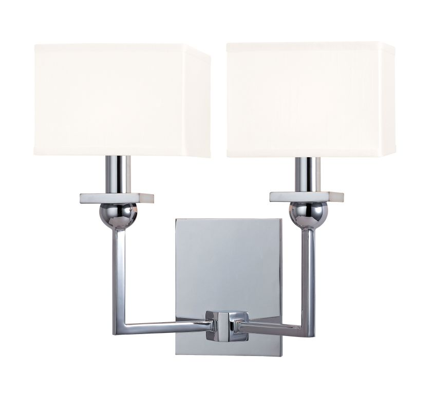 Hudson Valley Lighting 5212-WS Morris 2 Light Wall Sconce with White