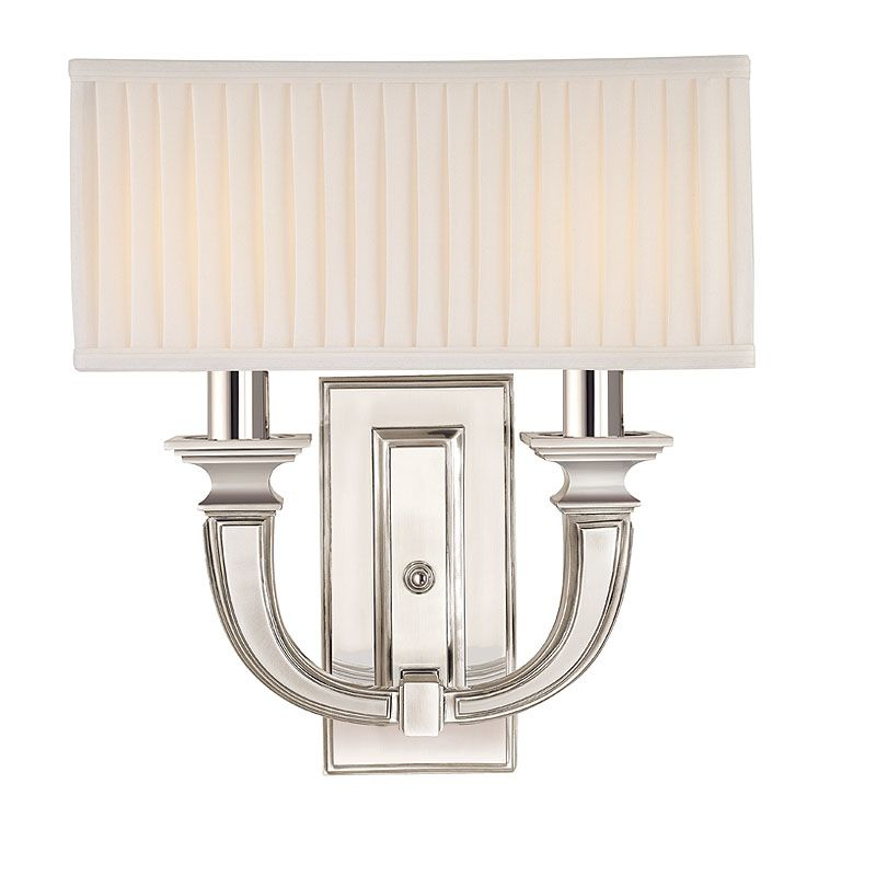 Hudson Valley Lighting 542 Two Light Up Lighting Brass Wallchiere Sale $642.00 ITEM: bci1737449 ID#:542-PN UPC: 806134117900 :