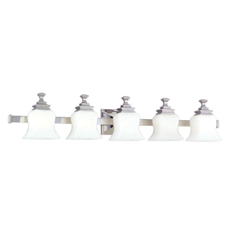 Hudson Valley Lighting 5505 Wilton 5 Light Bathroom Vanity Fixture Sale $578.00 ITEM: bci523864 ID#:5505-PN UPC: 806134019594 :