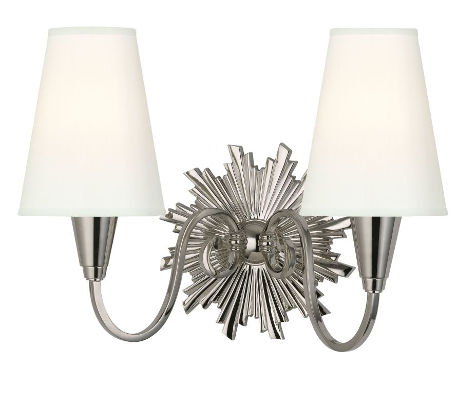 Hudson Valley Lighting 5592-WS Bleecker 2 Light Wall Sconce with White