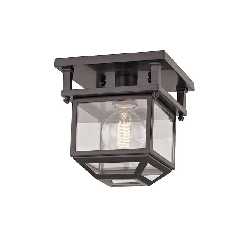 """Hudson Valley Lighting 5608 Rutherford Single Light 8"""" Wide Semi Flush"""