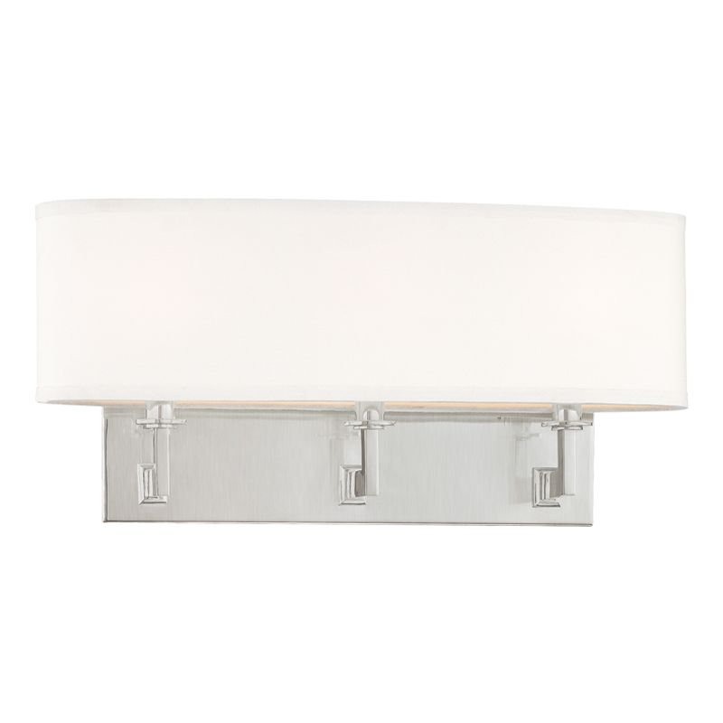 "Hudson Valley Lighting 593 Three Light Up / Down Lighting Triple Wall Sale $342.00 ITEM: bci1737518 ID#:593-SN UPC: 806134106638 Product Features: Finish: Polished Nickel , Light Direction: Up / Down Lighting , Width: 19.5"" , Height: 9"" , Genre: Transitional , Bulb Type: Incandescent , Number of Bulbs: 3 , Fully covered under Hudson Valley Lighting warranty , Location Rating: Indoor Use :"