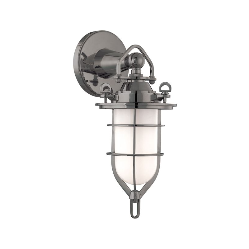 Hudson Valley 6501-AN Antique Nickel Industrial New Canaan Wall Sconce