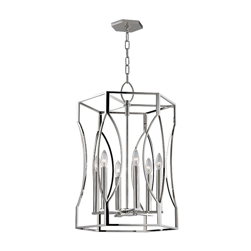 Hudson Valley Lighting 6517 Roswell 6 Light 17&quote Pendant with Tapered