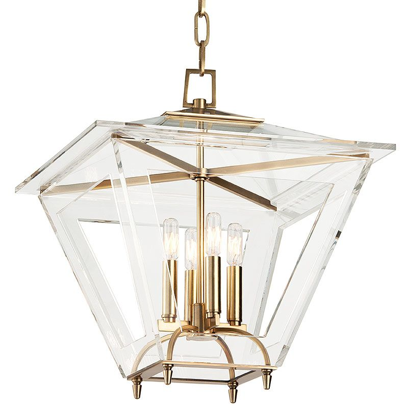 "Hudson Valley Lighting 7419 Andover 4 Light 19"" Foyer Lantern Pendant"