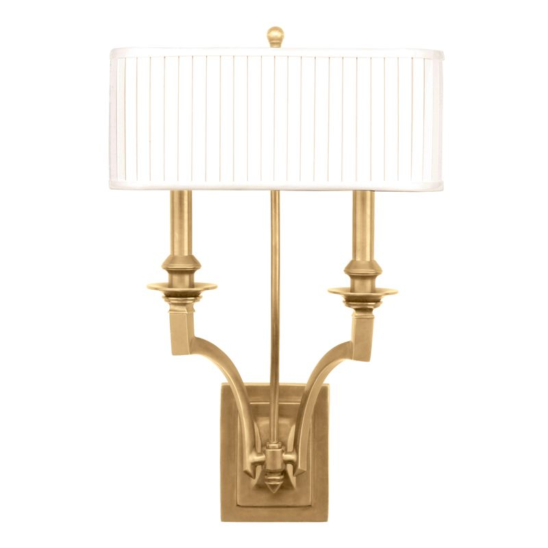 Hudson Valley 7902-AGB Aged Brass Contemporary Mercer Wall Sconce