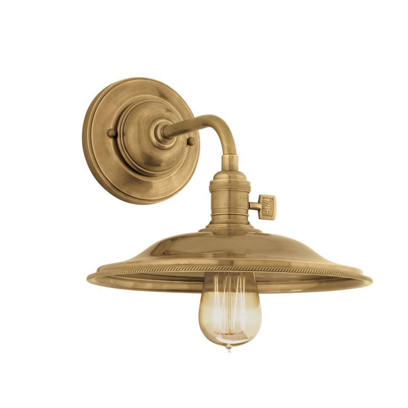 Hudson Valley 8000-AGB-MS2 Aged Brass Industrial Heirloom Wall Sconce