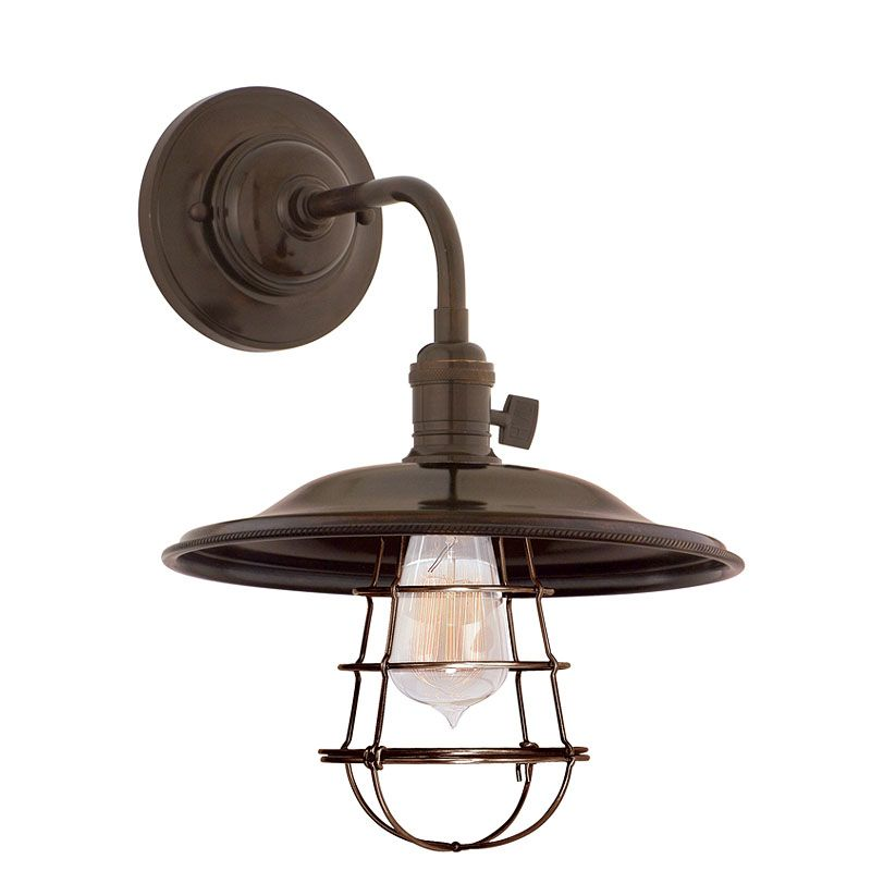 Hudson Valley 8000-OB-MS2-WG Bronze Industrial Heirloom Wall Sconce