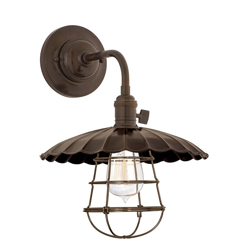 Hudson Valley 8000-OB-MS3-WG Bronze Industrial Heirloom Wall Sconce