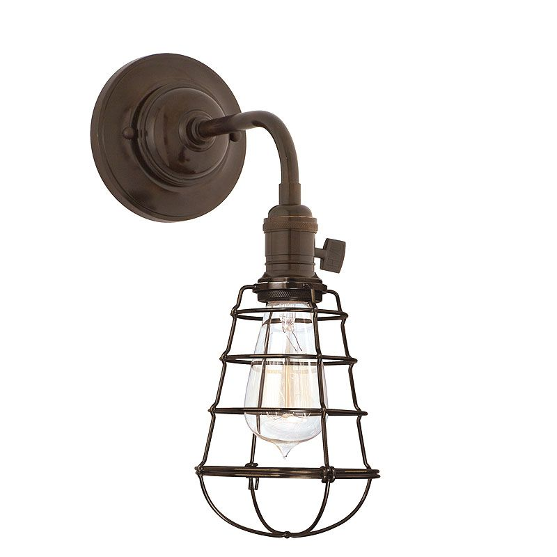 Hudson Valley 8000-OB-WG Bronze Industrial Heirloom Wall Sconce