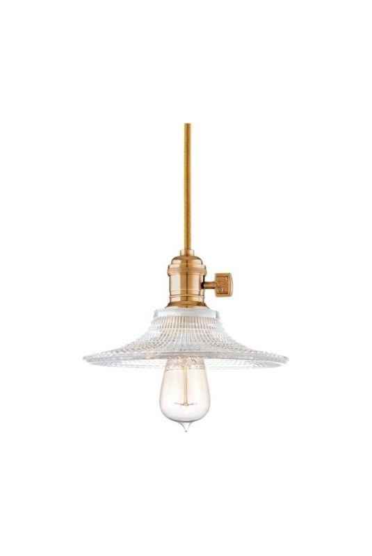 Hudson Valley Lighting 8002-AGB Aged Brass Industrial Heirloom Pendant