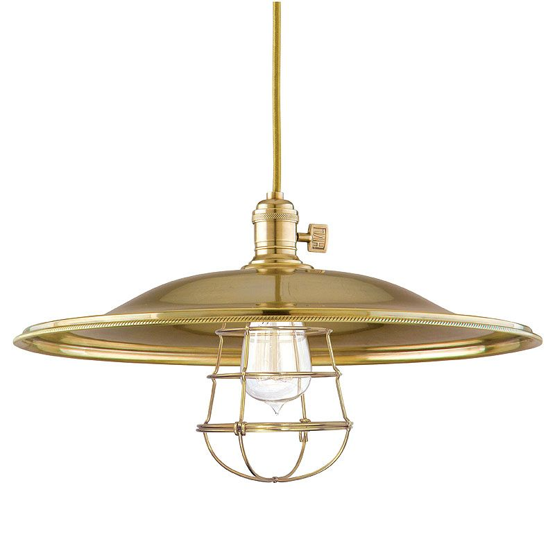 Hudson Valley 8002-AGB-ML2-WG Aged Brass W Industrial Heirloom Pendant