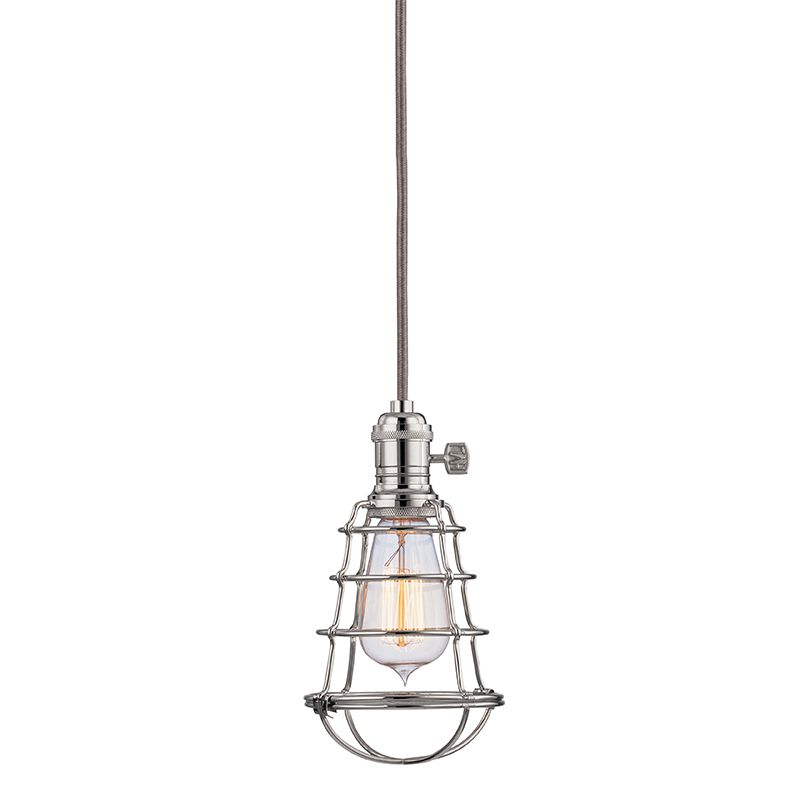 Hudson Valley 8002-PN-WG Polished Nickel Industrial Heirloom Pendant