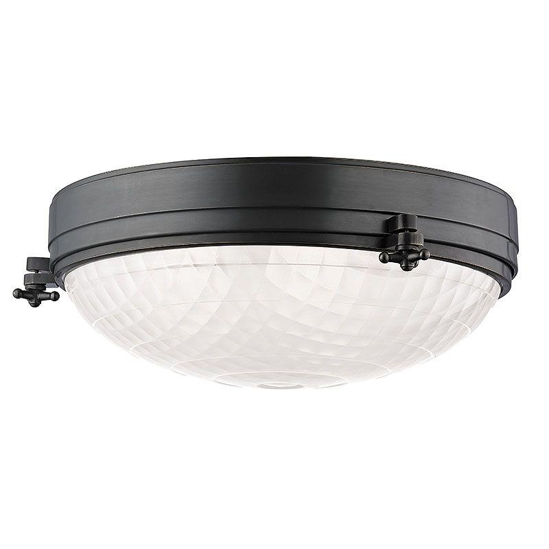 """Hudson Valley Lighting 8017 Belmont 3 Light 17"""" Flush Mount Ceiling"""