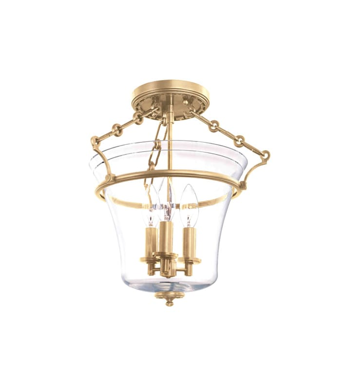 Hudson Valley Lighting 830 Three Light Up Lighting Semi Flushmount Sale $418.00 ITEM: bci1737672 ID#:830-AGB UPC: 806134123840 :