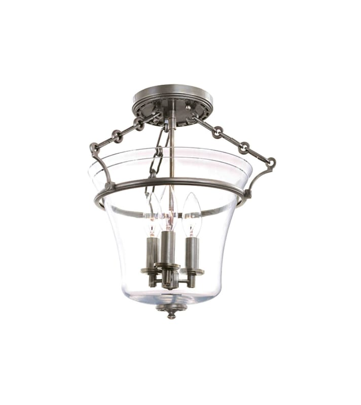 Hudson Valley Lighting 830 Three Light Up Lighting Semi Flushmount Sale $418.00 ITEM: bci1737673 ID#:830-HN UPC: 806134123857 :