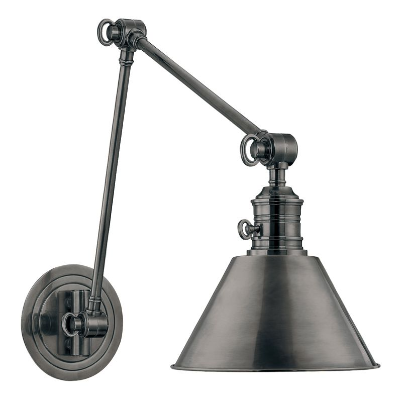 Hudson Valley 8323-AN Nickel Industrial Garden City Wall Sconce