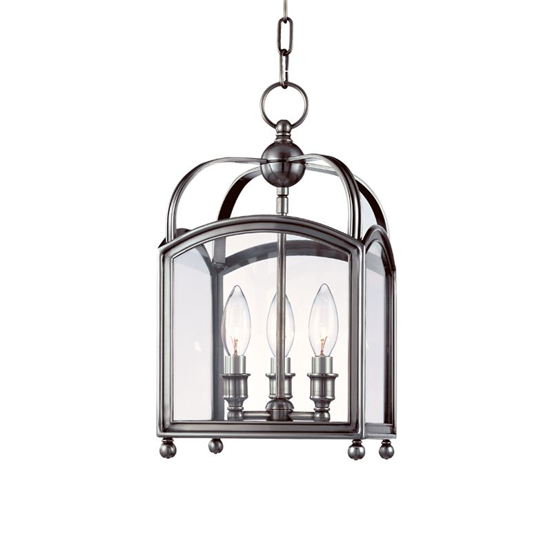 "Hudson Valley Lighting 8409 Three Light Up Lighting Enclosed Mini Sale $846.00 ITEM: bci1737723 ID#:8409-PN UPC: 806134116224 Traditional / Classic Three Light Up Lighting Enclosed Mini Pendant from the Millbrook Collection Millbrook Collection Three Light Up Lighting Enclosed Mini Pendant. Features: Glass Enclosed Pendant Specifications: Requires (3) 60W Candelabra Based Bulbs (Not Included) Height: 15.75"" Width: 8.5"" Canopy Dimensions: 5.75"" Diameter :"