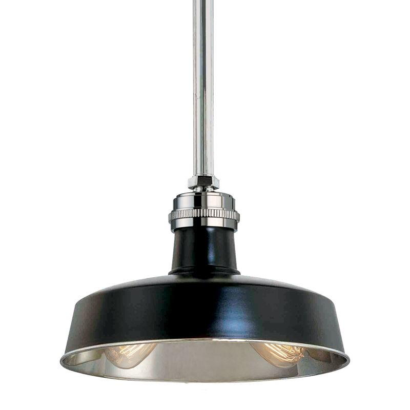Hudson Valley Lighting 8614-BPN Black Industrial Hudson Falls Pendant
