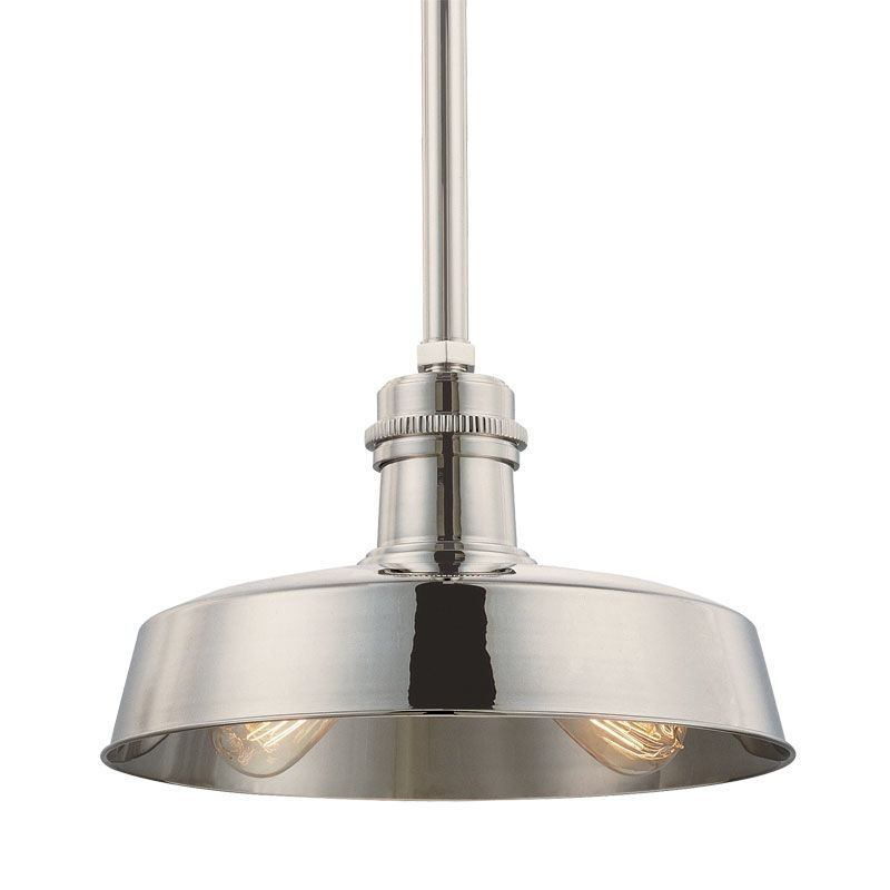 Hudson Valley 8614-PN Polished Nickel Industrial Hudson Falls Pendant