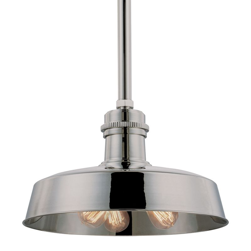 Hudson Valley 8618-PN Polished Nickel Industrial Hudson Falls Pendant
