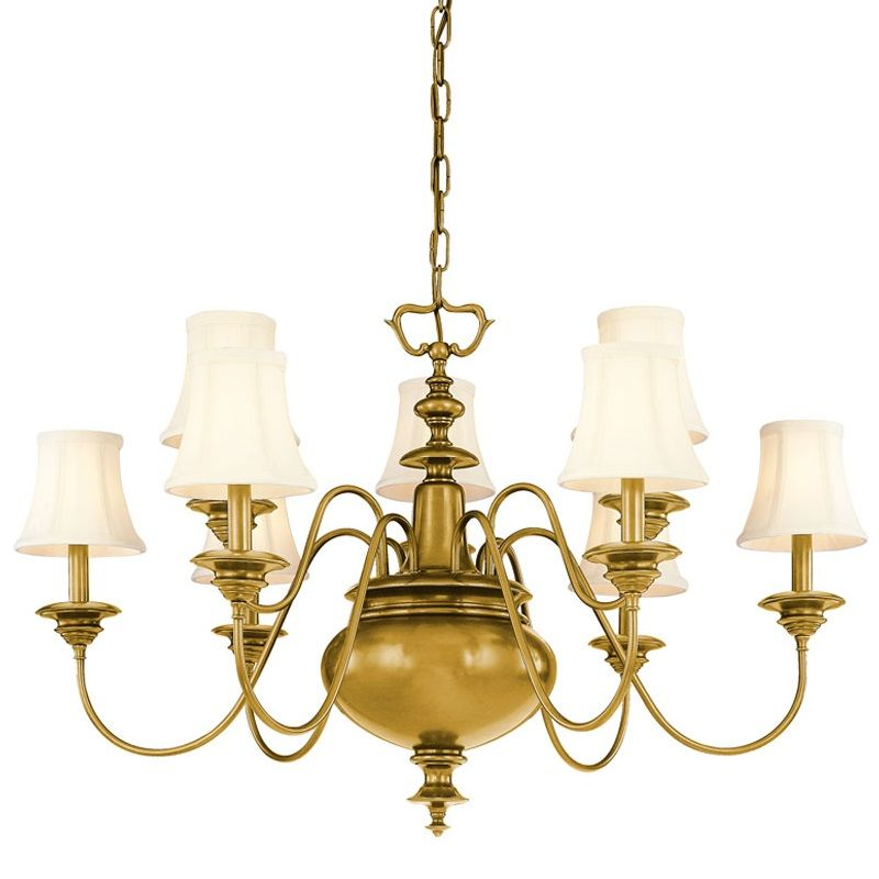 Hudson Valley Lighting 8719 Yorktown 9 Light Chandelier Aged Brass