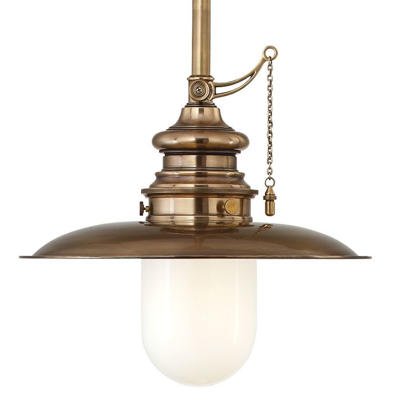 Hudson Valley Lighting 8810-AGB Aged Brass Industrial Kendall Pendant