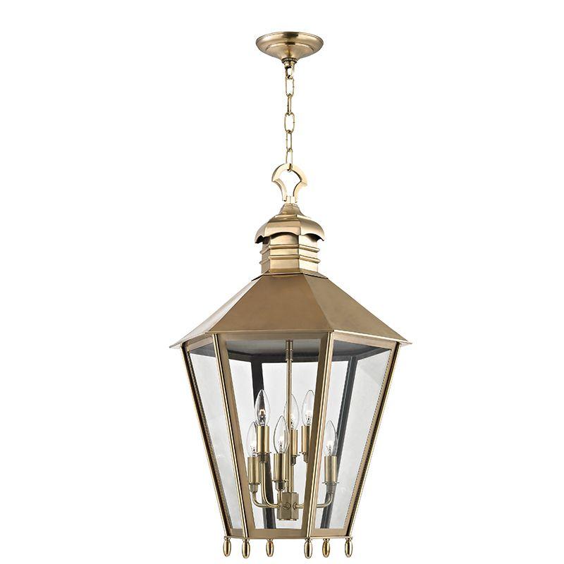 "Hudson Valley Lighting 8819 Barstow 6 Light 30"" Lantern Pendant with"