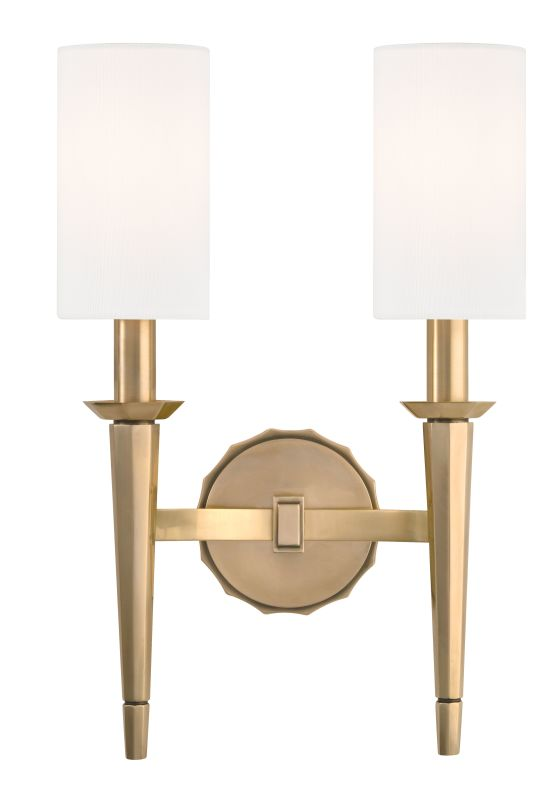 Hudson Valley Lighting 8882 Tioga 2 Light Wall Sconce Aged Brass