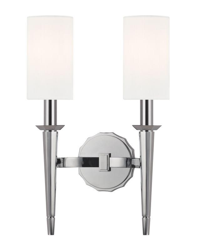 Hudson Valley Lighting 8882 Tioga 2 Light Wall Sconce Polished Chrome