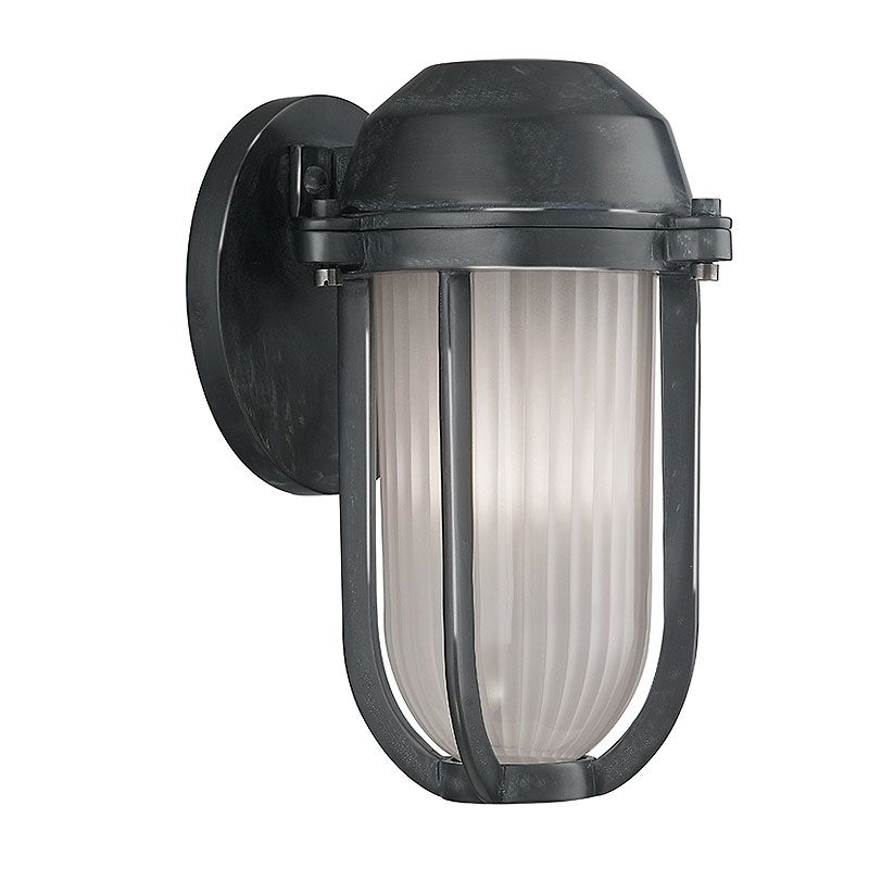 Hudson Valley Lighting 980 Pompey 1 Light Outdoor Wall Sconce Aged