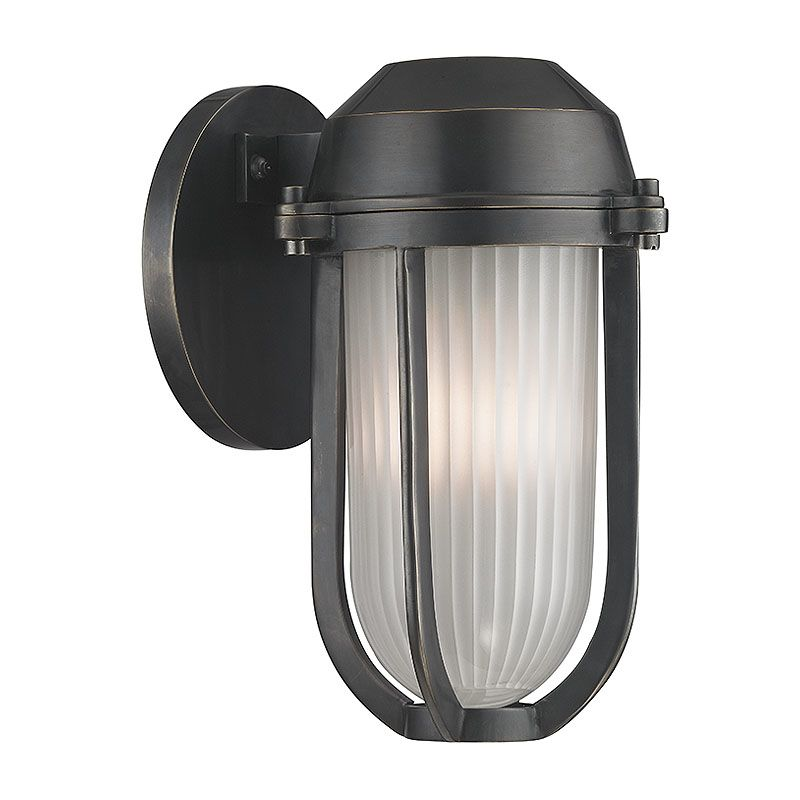Hudson Valley Lighting 980 Pompey 1 Light Outdoor Wall Sconce Old