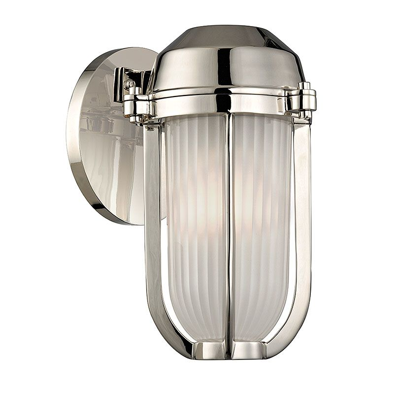Hudson Valley Lighting 980 Pompey 1 Light Outdoor Wall Sconce Polished