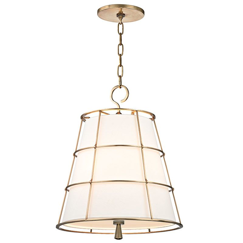 Hudson Valley Lighting 9818-AGB Aged Brass Contemporary Savona Pendant