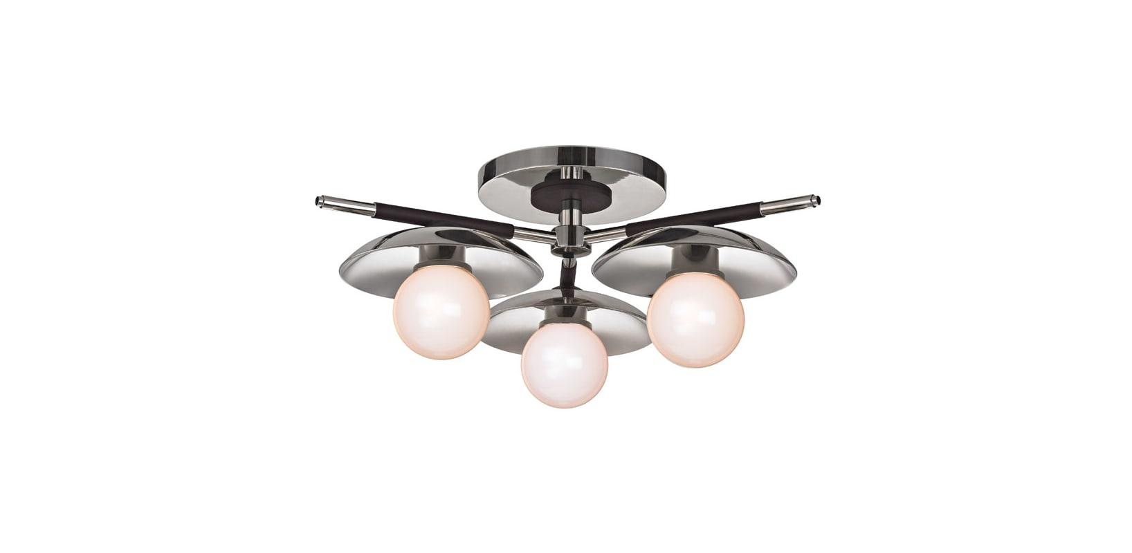 """Hudson Valley Lighting 9823 Julien 3 Light 13"""" Wide LED Semi Flush"""