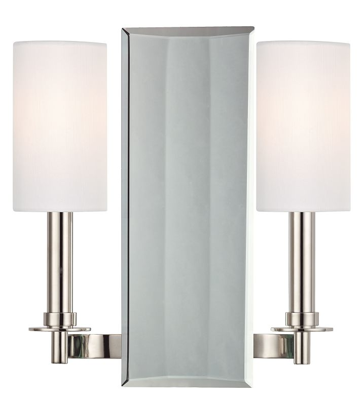 Hudson Valley Lighting 992 Adams 2 Light Wall Sconce Polished Nickel Sale $155.20 ITEM: bci2295392 ID#:992-PN UPC: 806134162627 :
