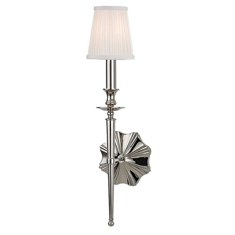 Hudson Valley Lighting 9921 Ellery 1 Light Wall Sconce with Pleated