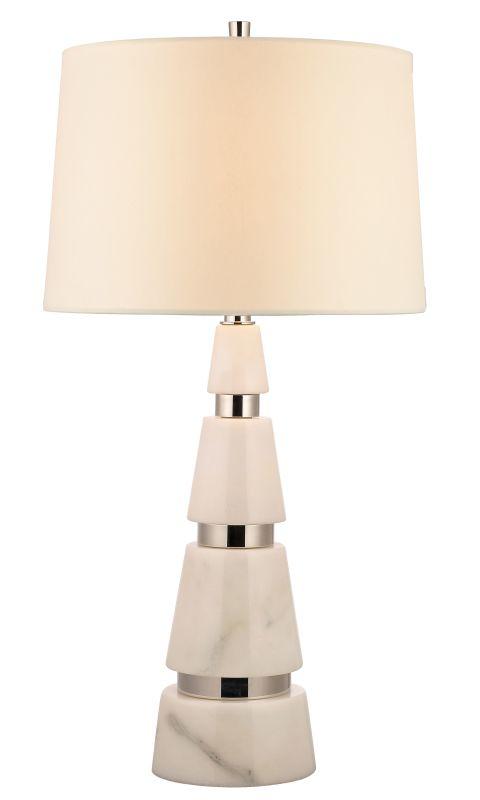 Hudson Valley Lighting L787 Modena 1 Light Marble Table Lamp Polished
