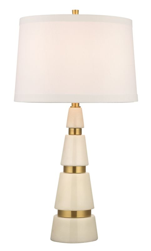 Hudson Valley Lighting L789-WS Modena 1 Light Marble Table Lamp with