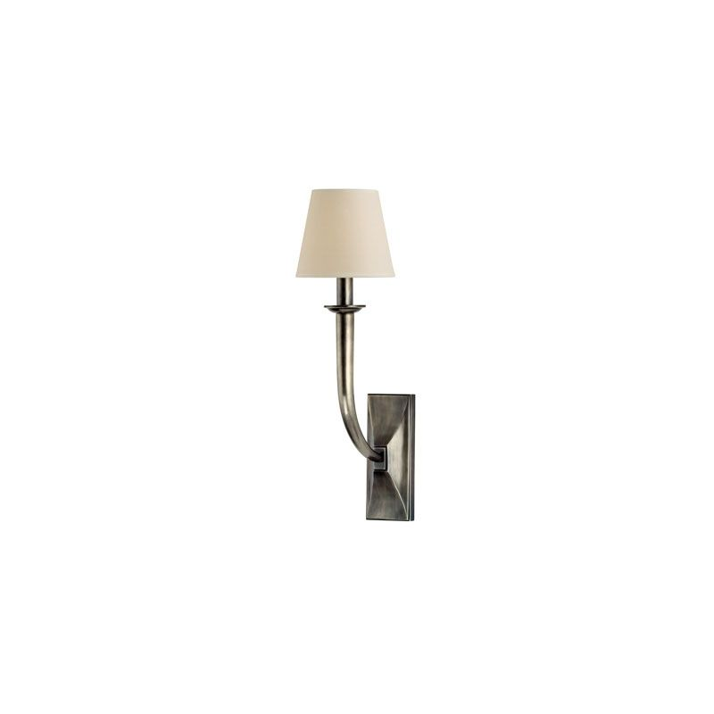 Hudson Valley Lighting 110 Vienna 1 Light Wall Sconce Aged Silver