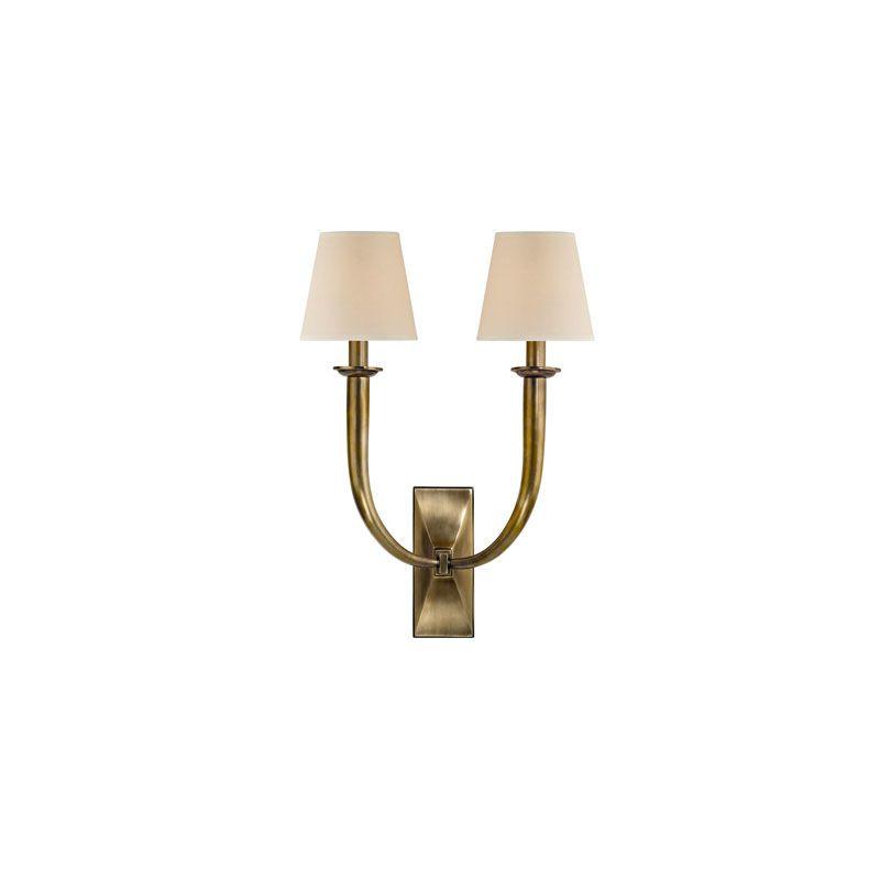 Hudson Valley Lighting 112 Vienna 2 Light Wall Sconce Aged Brass