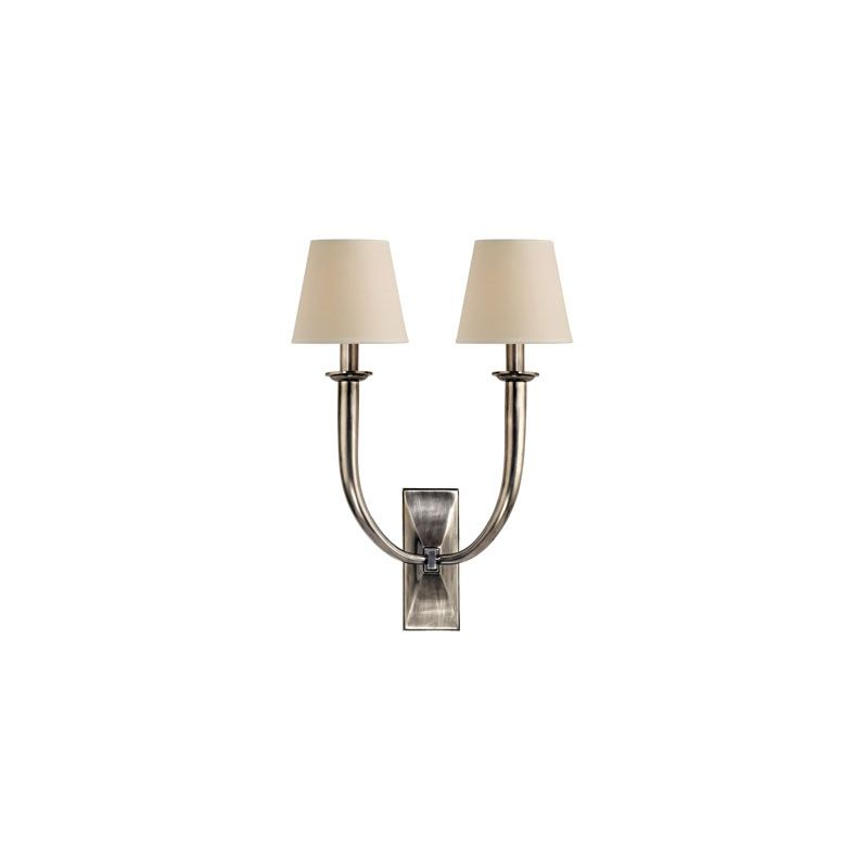 Hudson Valley Lighting 112 Vienna 2 Light Wall Sconce Aged Silver