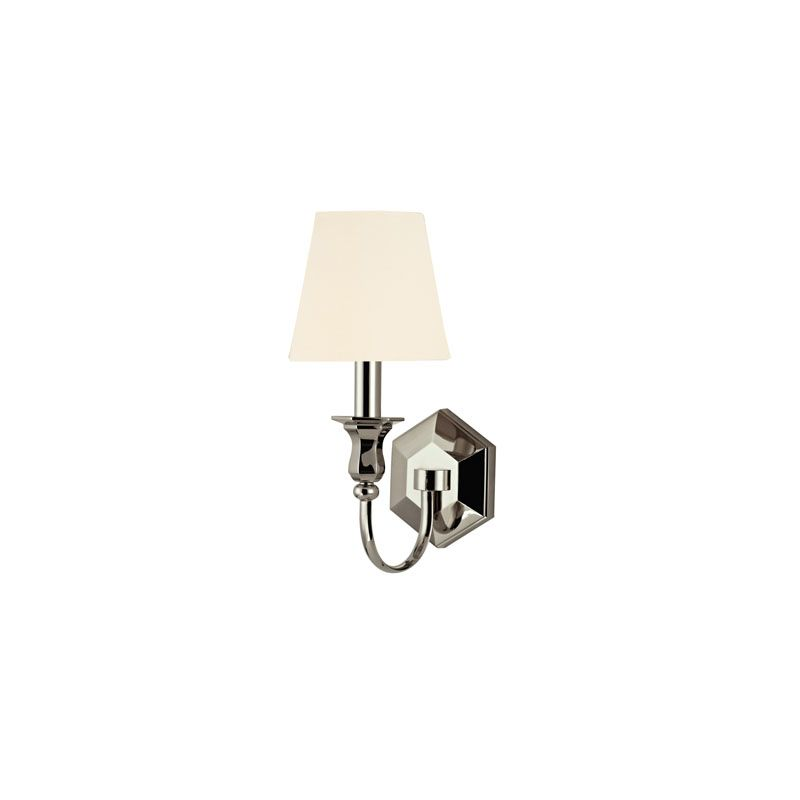 Hudson Valley Lighting 1411 Charlotte 1 Light Wall Sconce Polished